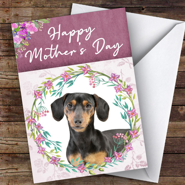 Dachshund Dog Traditional Animal Personalised Mother's Day Card