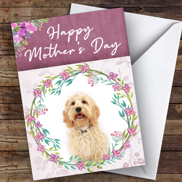 Cockapoo Dog Traditional Animal Personalised Mother's Day Card