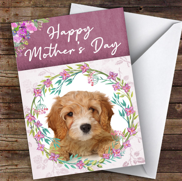 Cavapoo Dog Traditional Animal Personalised Mother's Day Card