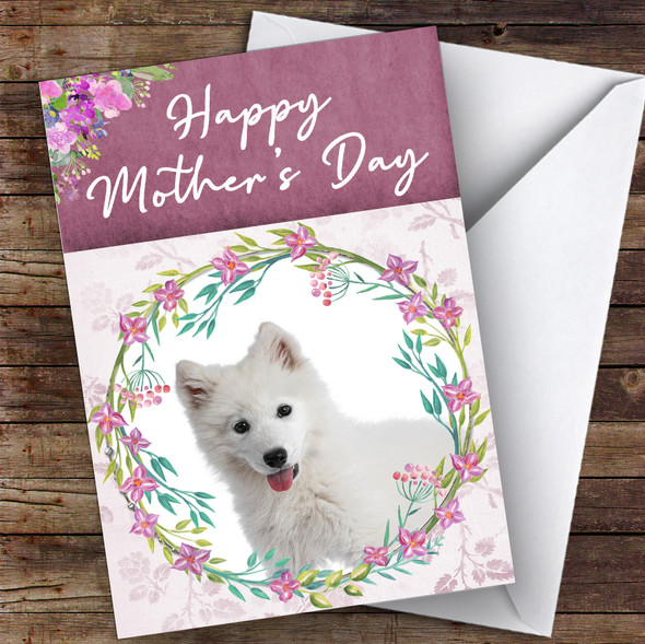 Samoyed Dog Traditional Animal Personalised Mother's Day Card
