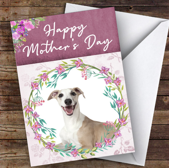Whippet Dog Traditional Animal Personalised Mother's Day Card
