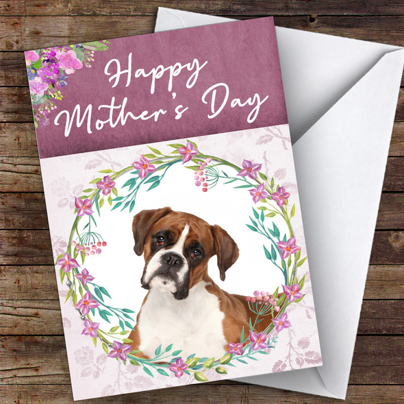 Boxer Dog Traditional Animal Personalised Mother's Day Card