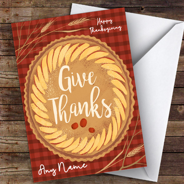 Red Pie Personalised Happy Thanksgiving Card