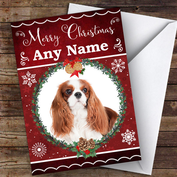 Cavalier King Charles Spaniel Dog Traditional Animal Personalised Christmas Card
