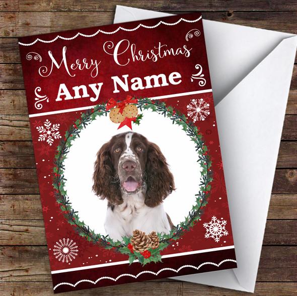 English Springer Spaniel Dog Traditional Animal Personalised Christmas Card
