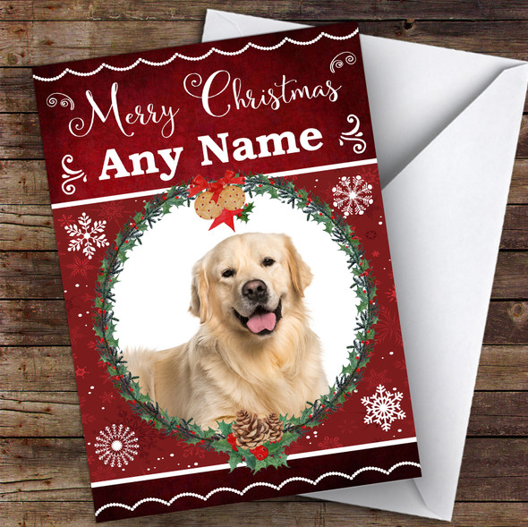 Golden Retriever Dog Traditional Animal Personalised Christmas Card