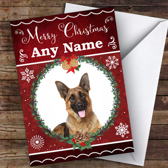 German Shepherd Dog Traditional Animal Personalised Christmas Card