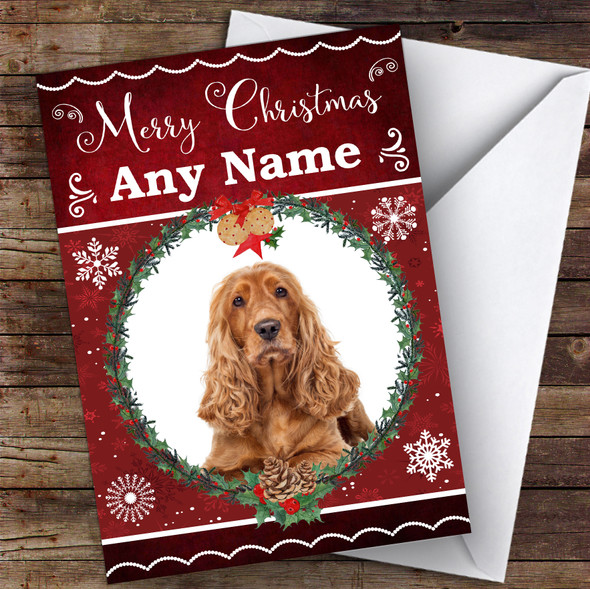 Cocker Spaniel Dog Traditional Animal Personalised Christmas Card