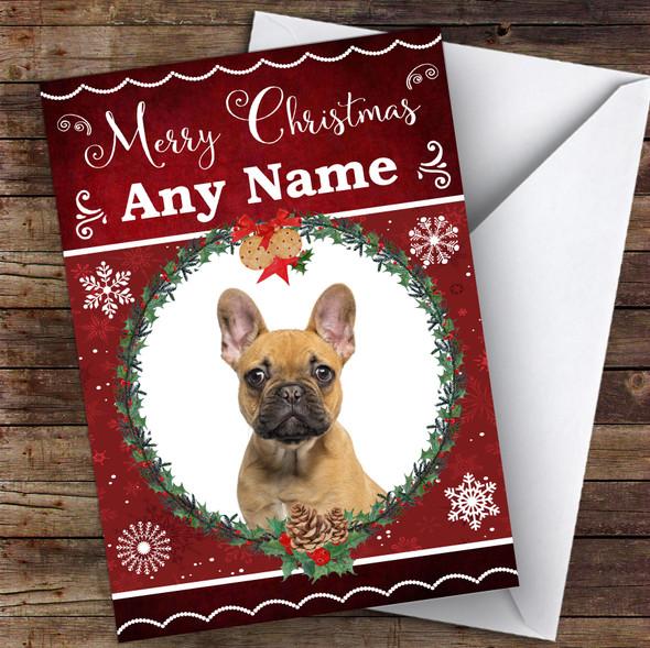 French Bulldog Dog Traditional Animal Personalised Christmas Card
