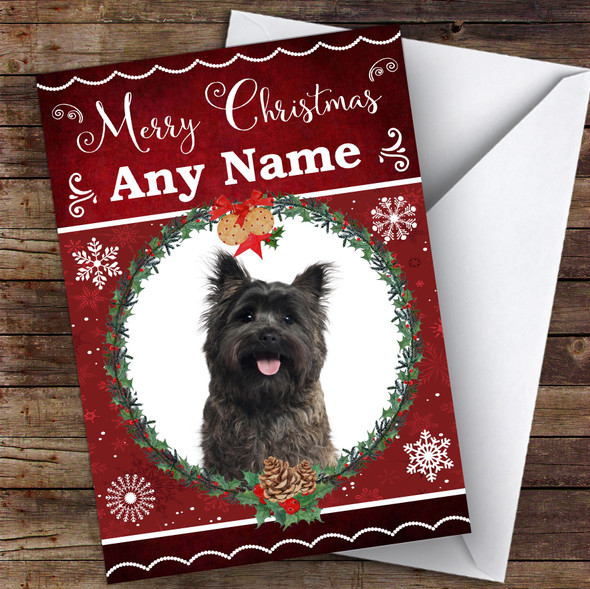 Cairn Terrier Dog Traditional Animal Personalised Christmas Card