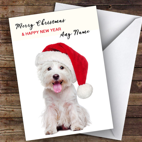 West Highland Terrier Dog Animal Personalised Christmas Card