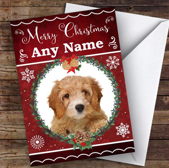 Cavapoo Dog Traditional Animal Personalised Christmas Card