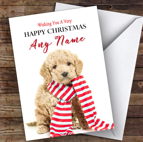 Cockerpoo Dog Puppy Animal Personalised Christmas Card