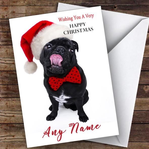 Funny Blag Pug Dog Animal Personalised Christmas Card