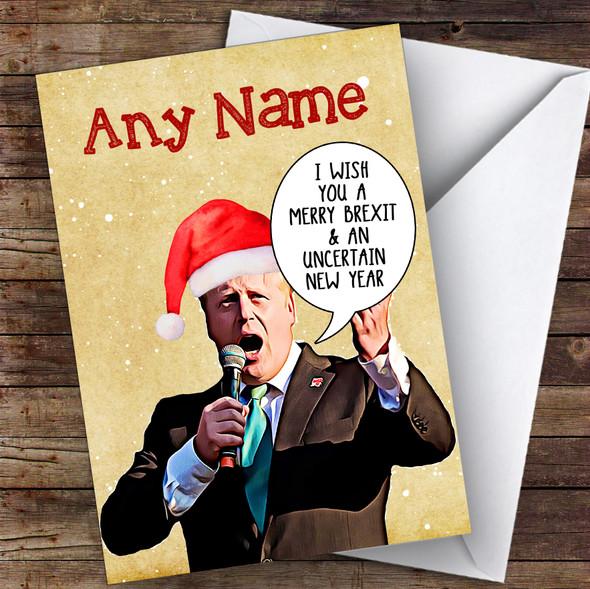 Boris Johnson Eu Brexit Funny Joke Personalised Christmas Card