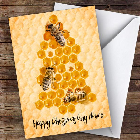 Beekeeping Honey Bee Tree Hobbies Personalised Christmas Card
