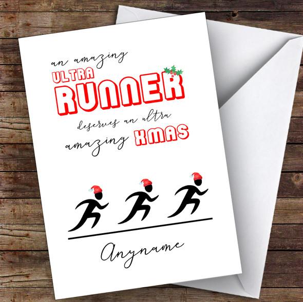Ultra Runner Amazing Xmas Hobbies Personalised Christmas Card