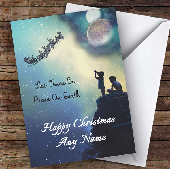 Astronomy Solar System Hobbies Personalised Christmas Card
