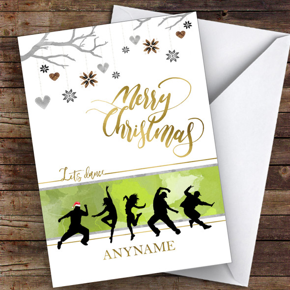 Dance Silhouette Style Hobbies Personalised Christmas Card