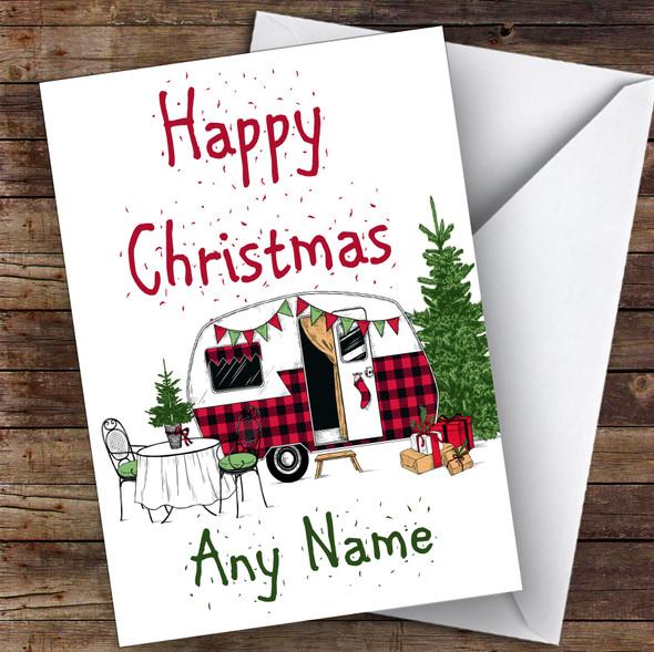 Caravan Rv Camping Hobbies Personalised Christmas Card