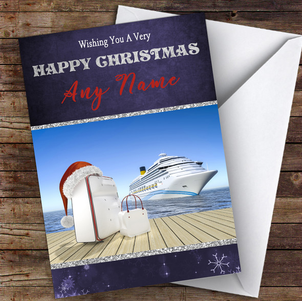 Cruise Ship Liner Hobbies Personalised Christmas Card