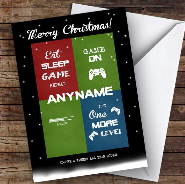 Gaming Puns Hobbies Personalised Christmas Card