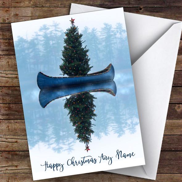 Canoe Tree Hobbies Personalised Christmas Card