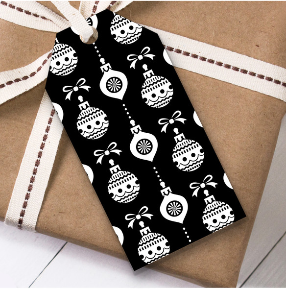 Black And White Ornament Pattern Christmas Gift Tags
