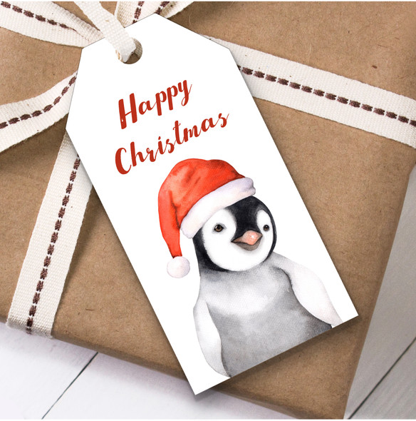 Watercolour Penguin Simple Christmas Gift Tags