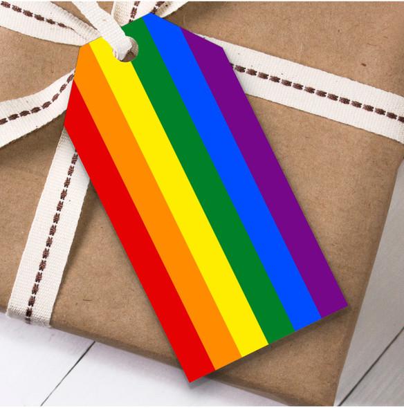 Gay Pride Rainbow Colours Christmas Gift Tags