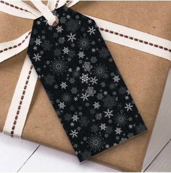 Black & White Snowflakes Christmas Gift Tags