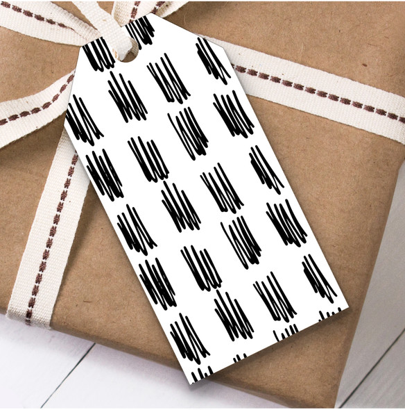 Black & White Squiggles Christmas Gift Tags