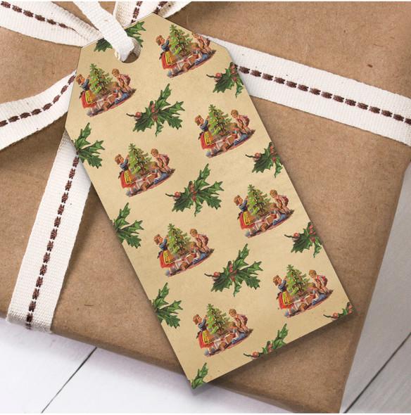 Rustic Traditional Tree Christmas Gift Tags