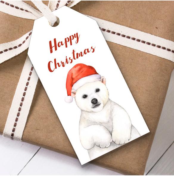 Watercolour Polar Bear Christmas Gift Tags
