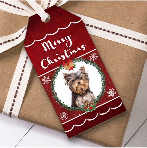Yorkshire Terrier Dog Christmas Gift Tags