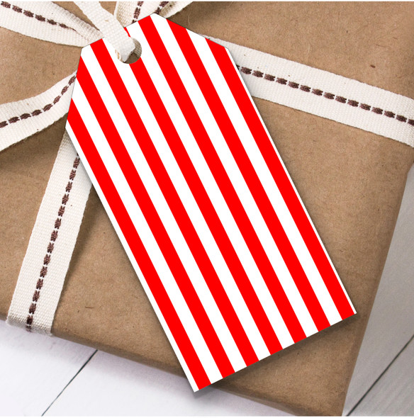 Red White Candy Cane Christmas Gift Tags