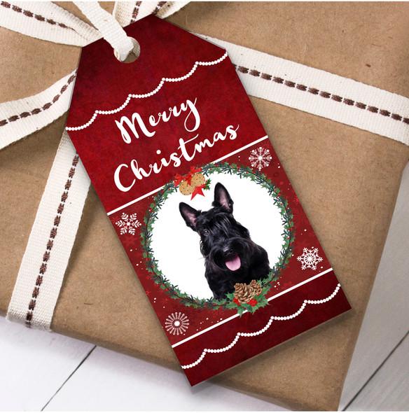 Scottish Terrier Dog Christmas Gift Tags