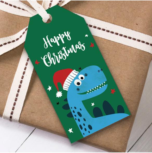 Children's Dinosaur Christmas Gift Tags