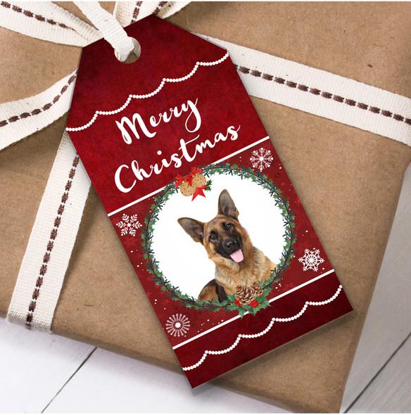 German Shepherd Dog Christmas Gift Tags