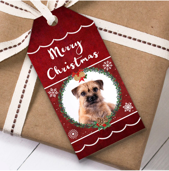 Border Terrier Dog Christmas Gift Tags