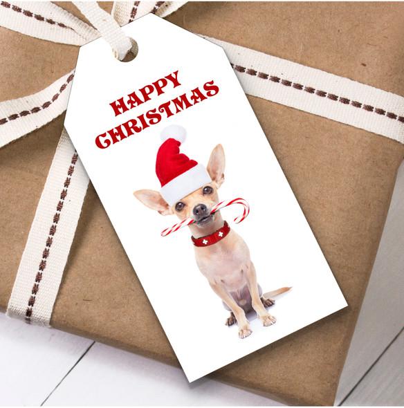 Cute Chihuahua Dog Christmas Gift Tags
