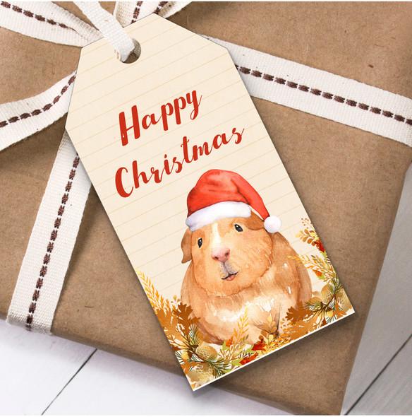 Vintage Guinea Pig Christmas Gift Tags