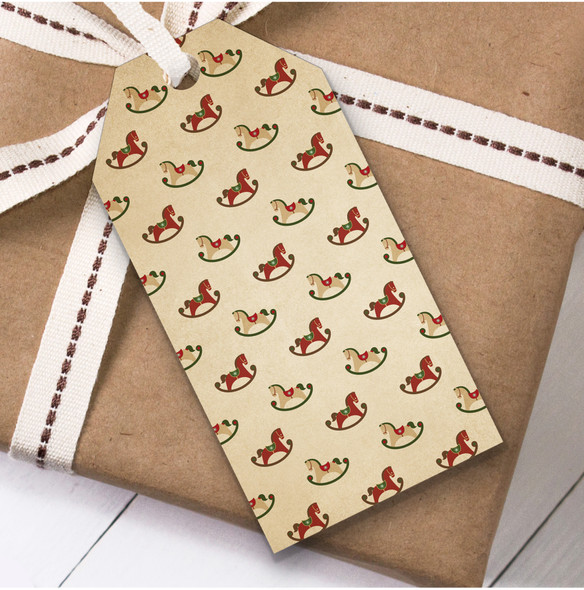 Vintage Toy Horses Christmas Gift Tags