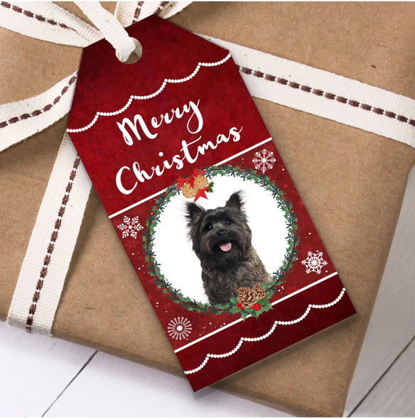 Cairn Terrier Dog Christmas Gift Tags