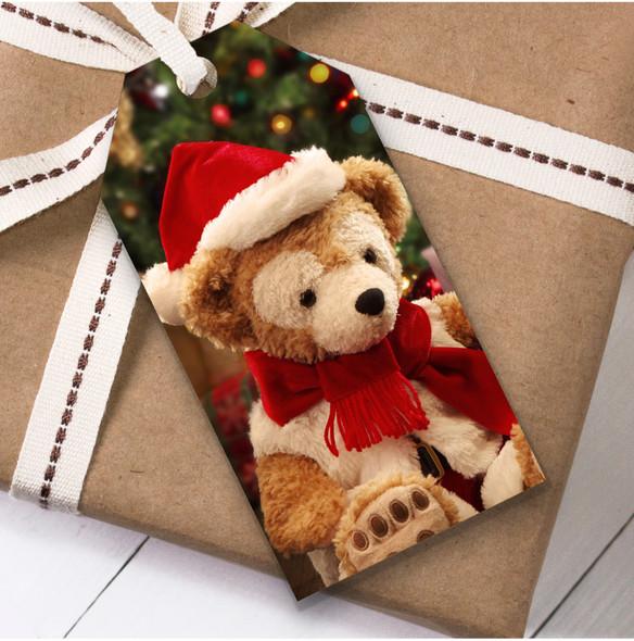 Teddy Bear Lights Christmas Gift Tags