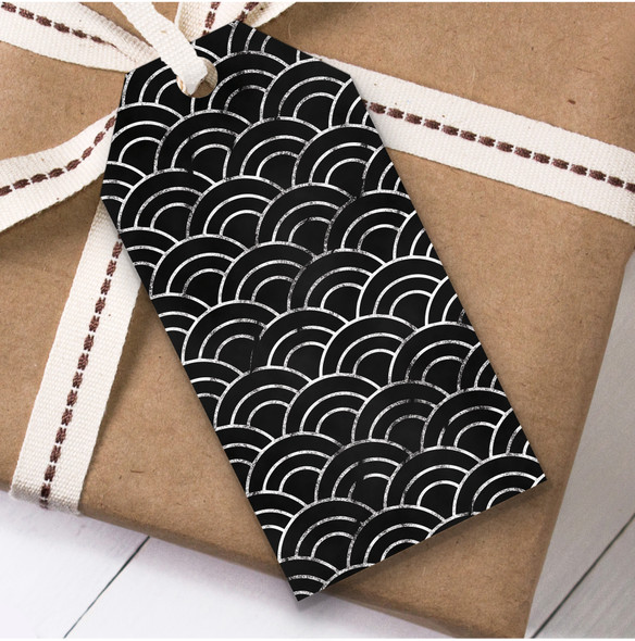 Black And Silver Christmas Gift Tags