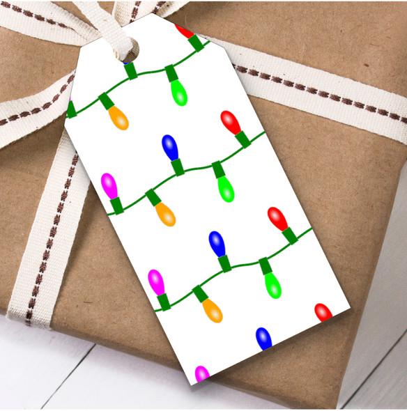 Strings Of Light Christmas Gift Tags