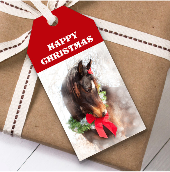 Beautiful Horse Christmas Gift Tags