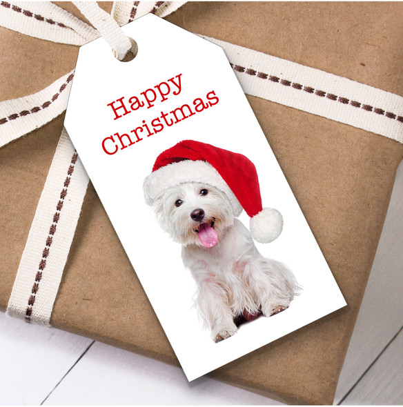 Cute Westie Dog Christmas Gift Tags