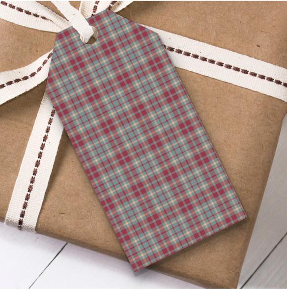 Red Blue Tartan Christmas Gift Tags